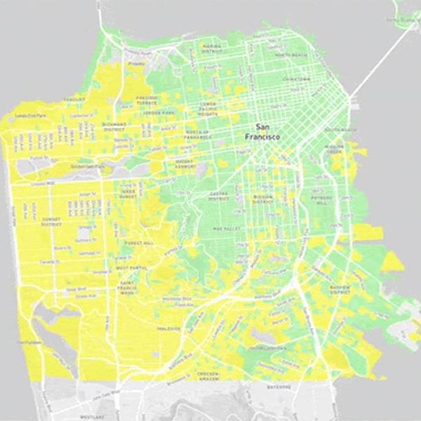 Political map of San Francisco